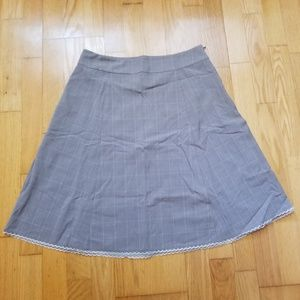 Old Navy Grey Blue Plaid Check Skirt
